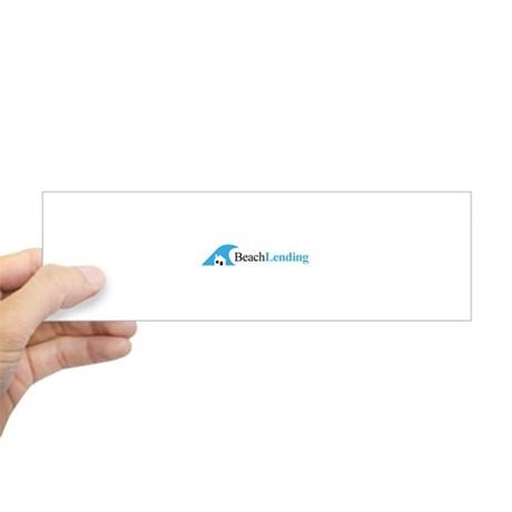 bumper sticker with beach lending classic logo