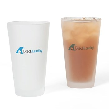 Drinking glass with classic logo