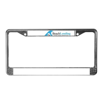 license plate frame with beach lending classic logo