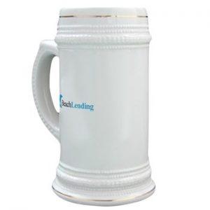 large beer mug with classic logo