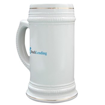 large beer mug with classic logo