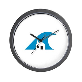 wall clock with classic logo